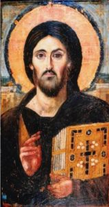 Christ Pantocrator from St. Catherine's Monastery, Mt. Sinai, Syria (6th century)
